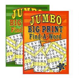 48 Units of Jumbo Big Print Find-A-Word Puzzles Book - Crosswords, Dictionaries, Puzzle books