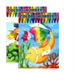 48 Units of Jumbo Color By Numbers Coloring & Activity Books - Coloring & Activity Books
