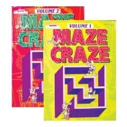 48 Units of Kappa Maze Craze Puzzle Book - Crosswords, Dictionaries, Puzzle books