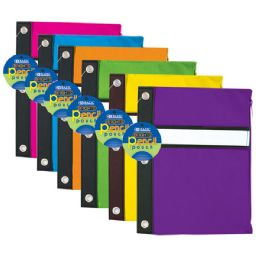144 Units of BAZIC Bright Color 3-Ring Pencil Pouch - Storage Holders and Organizers