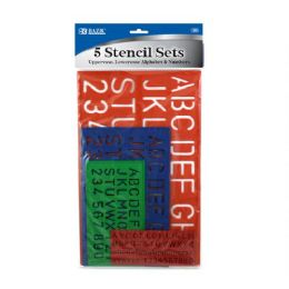 144 Units of Bazic 10, 17, 27, 40mm Size Lettering Stencil Sets (4/pk) - Rulers