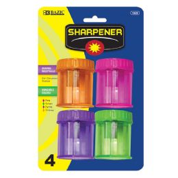 144 Units of BAZIC Single Hole Sharpener w/ Round Receptacle (4/pack) - Sharpeners