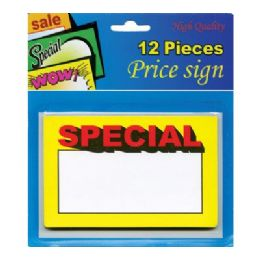 "24 Units of 5.5"" X 3.5"" Special Price Sign (12/Pack) - Signs & Flags"