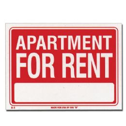 "144 Units of 9"" X 12"" Apartment For Rent Sign - Signs & Flags"