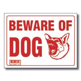 "72 Units of 9"" X 12"" Beware Of Dog Sign - Signs & Flags"