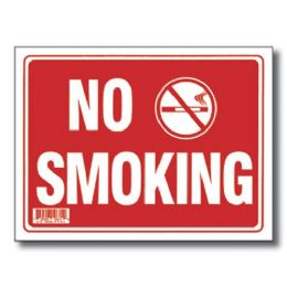 "72 Units of 9"" X 12"" No Smoking Sign - Signs & Flags"