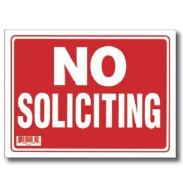 "144 Units of 9"" X 12"" No Soliciting Sign - Signs & Flags"