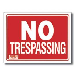 "72 Units of 9"" X 12"" No Trespassing Sign - Signs & Flags"
