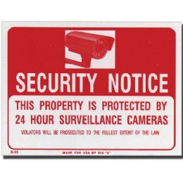 "216 Units of 9"" x 12"" Security Notice Sign - Signs & Flags"