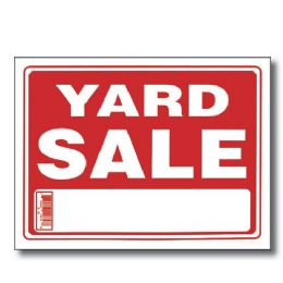 "144 Units of 9"" X 12"" Yard Sale Sign - Signs & Flags"