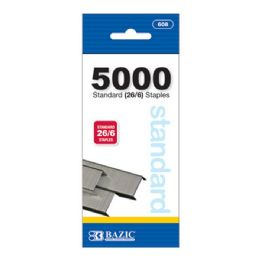 144 Units of Bazic 5000 Ct. Standard (26/6) Staples - Staples and Staplers