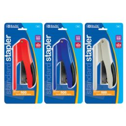 144 Units of Bazic Cushion Grip Standard (26/6) Stapler W/ 500 Ct. Staples - Staples and Staplers