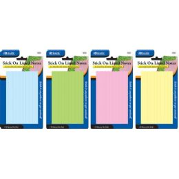 "144 Units of BAZIC 70 Ct. 3"" X 5"" Lined Stick On Notes - Note Books & Writing Pads"