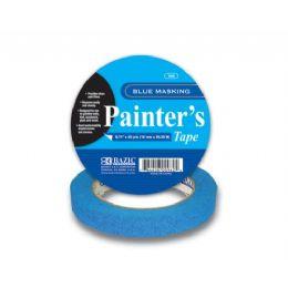 """144 Units of BAZIC 0.71"""" X 1440"""" (40 Yards) Blue Painter's Masking Tape - Tape"""