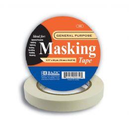 "72 Units of BAZIC 0.71"" X 2160"" (60 Yards) General Purpose Masking Tape - Tape"
