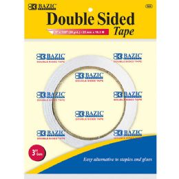 "144 Units of BAZIC 1"" X 20 Yard (720"") Double Sided Tape - Tape"