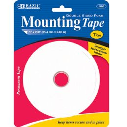 "144 Units of BAZIC 1"" X 200"" Double Sided Foam Mounting Tape - Tape"