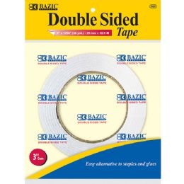 "144 Units of BAZIC 1"" X 36 Yard (1296"") Double Sided Tape - Tape"
