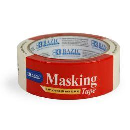 "72 Units of BAZIC 1.41"" X 1080"" (30 Yards) General Purpose Masking Tape - Tape"