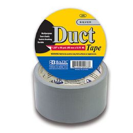 "108 Units of BAZIC 1.89"" X 10 Yards Silver Duct Tape - Tape"