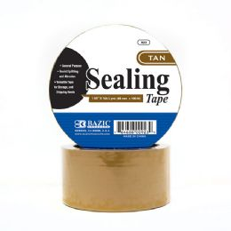 "36 Units of BAZIC 1.88"" X 109.3 Yards Tan Packing Tape - Tape"