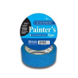 """24 Units of BAZIC 1.89"""" X 2160"""" (60 Yards) Blue Painter's Masking Tape - Tape"""