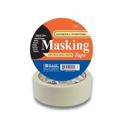 "48 Units of BAZIC 1.89"" X 2160"" (60 Yards) General Purpose Masking Tape - Tape"