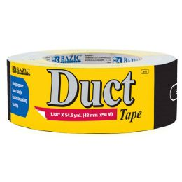 "48 Units of BAZIC 1.89"" X 60 Yards Black Duct Tape - Tape"