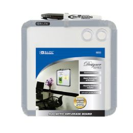 "12 Units of Bazic 8.5"" X 8.5"" Magnetic Dry Erase Board W/ Marker & 2 Magnets - Dry Erase"