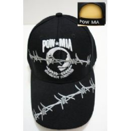 24 Units of POW/MIA Hat [Barbed Wire] - Military Caps