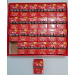 48 Units of 3pk Clear Tape with Handheld Dispenser - Tape