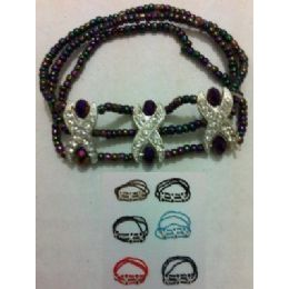 """36 Units of 7"""" Elastic Beaded Bracelet--Rhinestone - Bracelets"""