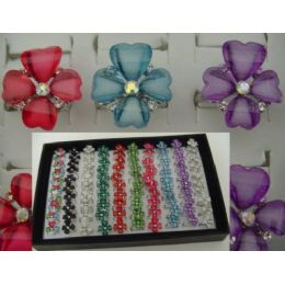 100 Units of Adjustable Ring-Flower-4 Petals