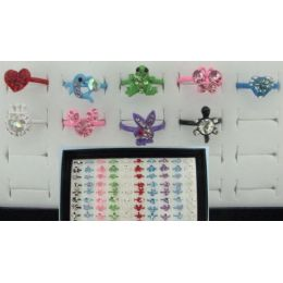 200 Units of Adjustable Rings-Heart & Animal Assortment - Rings