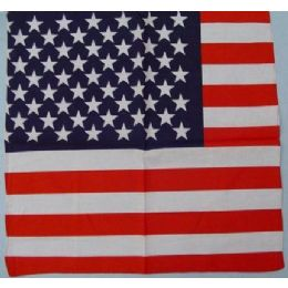 48 Units of Bandana-American Flag - 4th Of July
