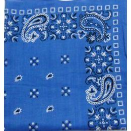 120 Units of Bandana-Royal Blue Paisley - Bandanas