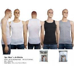 72 Units of Mens 3 Pair Pack Tank Top - Mens T-Shirts