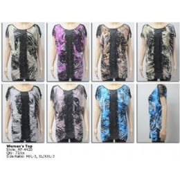72 Units of Ladies Fashion Print Tunic Top - Womens Fashion Tops