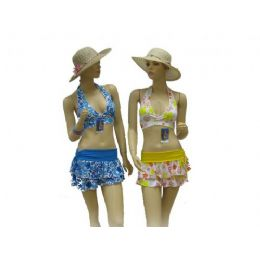 72 Units of  3 Piece Swimsuit Set - Womens Swimwear