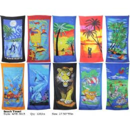 120 Units of Large Beach Towel - Towels