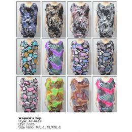 72 Units of Ladies Printed Long Top /Dress - Womens Fashion Tops