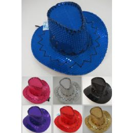 24 Units of Childrens Sequin Cowboy Hats - Cowboy & Boonie Hat