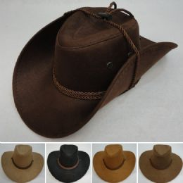 36 Units of Rope Hat Band Suede-Like Cowboy Hat - Cowboy & Boonie Hat