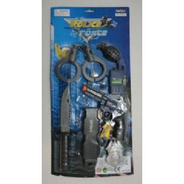 72 Units of Police Force Justice Set With Sound Effects - Toy Weapons