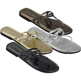 36 Units of Ladies' Sandal Assorted Colors - Women's Sandals