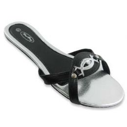 48 Units of Sterling Buckled Flat Sandals - Women's Sandals