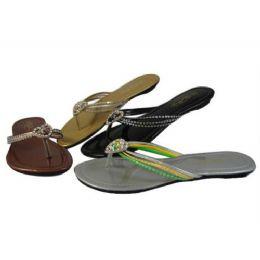48 Units of Womans Fashion Flip Flop (Assorted Colors) - Women's Sandals