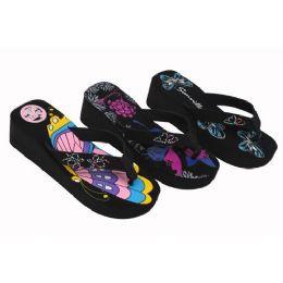 36 Units of Ladies' Wedge Sandal - Women's Flip Flops