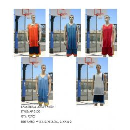 72 Units of Basketball Jersey Dazzle Top - Mens Shorts