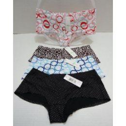 96 Units of Ladies Panties-Circles & Prints - Womens Panties & Underwear